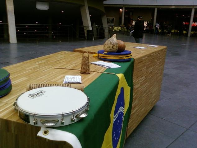 pandeiro, Brazilian flag, calabas