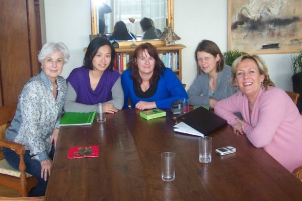 Marijke, Chungmei, Jeanette, Marianne and Barbara.